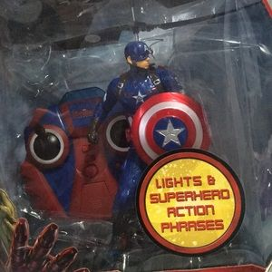 Captain America Flying Figure infrared Helicopter